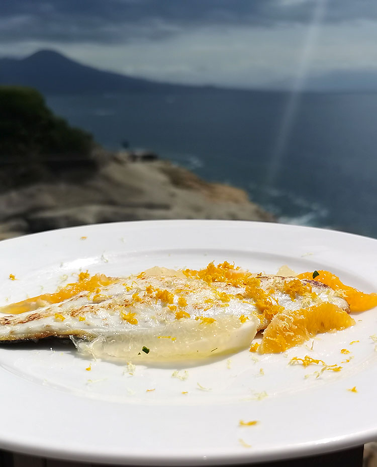 Sea bass fillet with citrus fruits