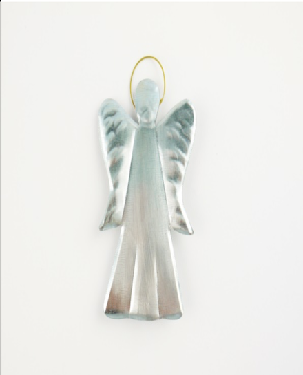 Small Faceless Angel - silver colored