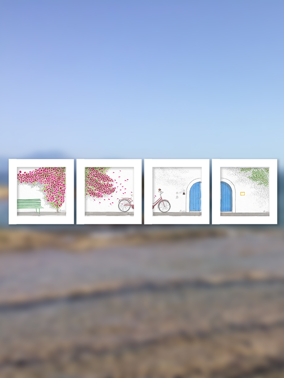 THE INVISIBLES OF CAPRI Collection - Framed with Passepartout IL19_C_Pass
