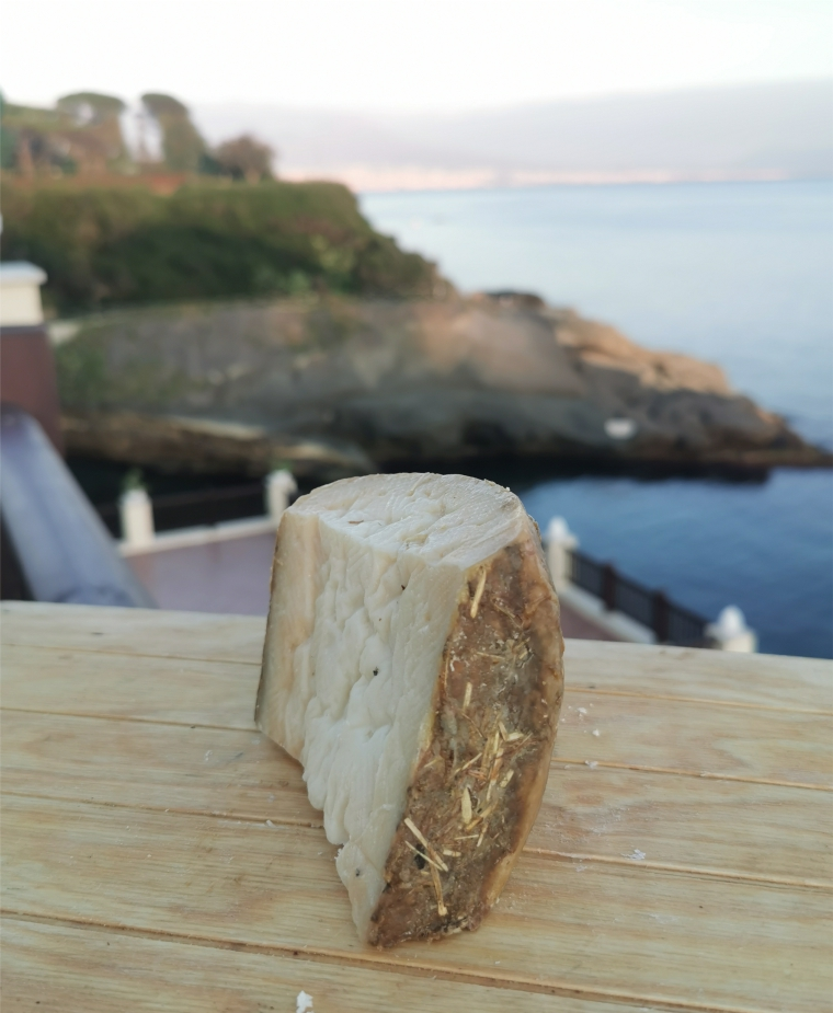 Seasoned Bagnolese Goat Cheese aged in Natural Hay